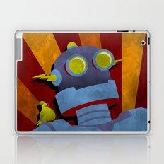 Retro Robot with Yellow Bird Laptop & iPad Skin