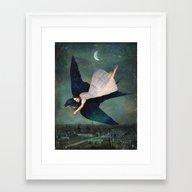 Fly Me To Paris Framed Art Print