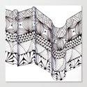 Zentangle Architectural Molding Canvas Print