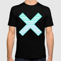 Aztec Cross Mens Fitted Tee Black SMALL