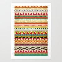 aztec Art Prints featuring  AZTEC by Allyson Johnson