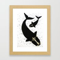 Right Whales From Above Framed Art Print