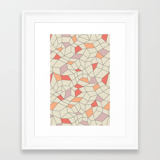 mod colorblock mesh Framed Art Print