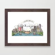 We Belong In Chicago Framed Art Print