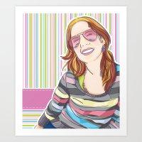 She smiles Art Print