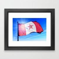 Birmingham, Alabama (USA), flag waving on the wind Framed Art Print