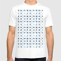 tiles - Portuguese azulejos  Mens Fitted Tee White SMALL