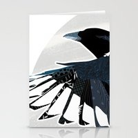 Magpie In Flight Stationery Cards