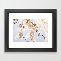 Finally! Spring! Framed Art Print