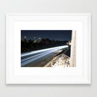 Outside Subway, L.A Framed Art Print