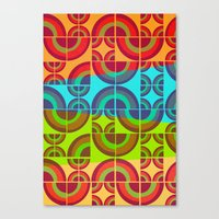 Vintage Candy Pattern Canvas Print