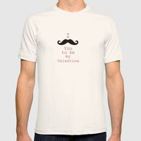 Moustache Mens Fitted Tee Natural SMALL