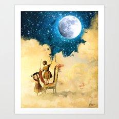 Painting Stars Art Print