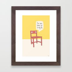 Seen some sit Framed Art Print