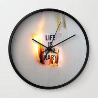 Temporary Wall Clock