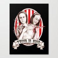 Tattler Twins (edited) Canvas Print