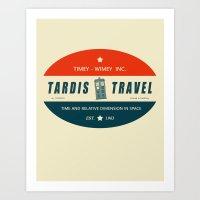 Tardis Travel - Fantasy Travel Logo Art Print