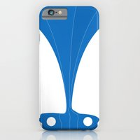 iPhone & iPod Case featuring Silhouette Racers - Mazda MX5 in Blue by Salmanorguk