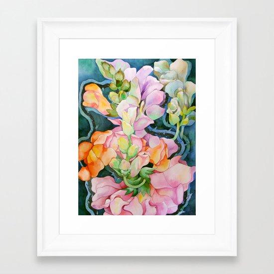 Colorful in the dark Framed Art Print