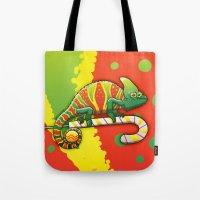 Christmas Chameleon Tote Bag