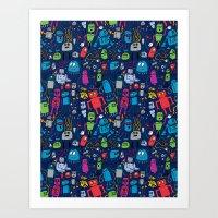 Robots Forever! Art Print