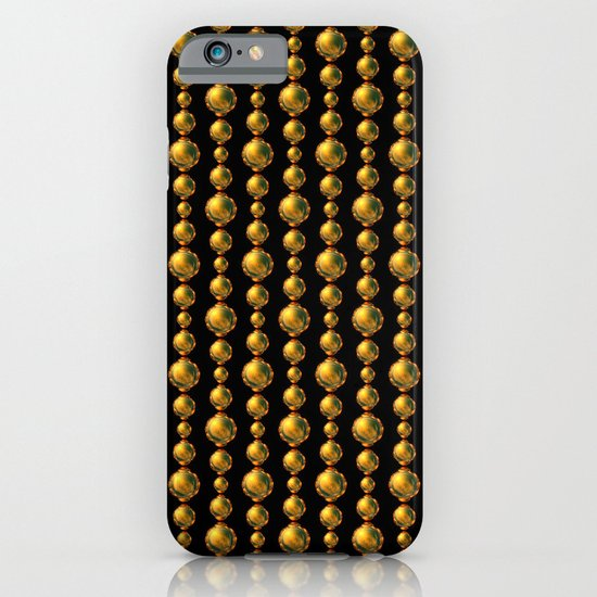 Bead Pattern, Gold & Black iPhone & iPod Case