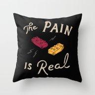 Real Pain Throw Pillow