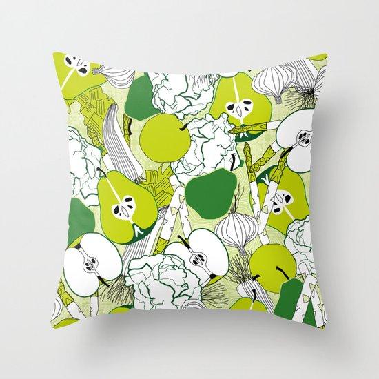 Vegetable pattern Throw Pillow