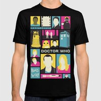 Doctor Who - The Ninth Doctor Mens Fitted Tee Black SMALL