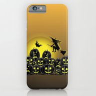 Pumpkins And Witch In Fr… iPhone 6 Slim Case
