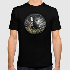 Snow White - The Ghost Black SMALL Mens Fitted Tee