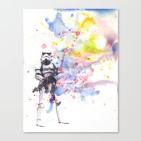 Storm Trooper from Star Wars Canvas Print