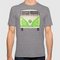 VW Type 2 Mens Fitted Tee Tri-Grey SMALL