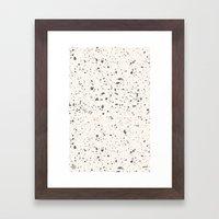 Retro Speckle Print - Bone Framed Art Print