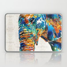 Colorful Elephant Art By… Laptop & iPad Skin
