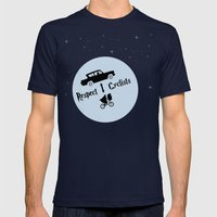 Respect Cyclists Mens Fitted Tee Navy SMALL