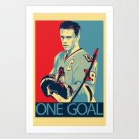 Towes One Goal Art Print