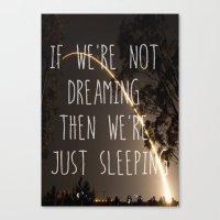 Dreaming or Sleeping Canvas Print