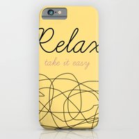 iPhone & iPod Case featuring Relax Take it easy by Marta Zappia