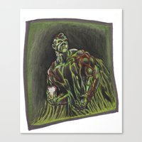 Swamp Thing On A Lunch B… Canvas Print