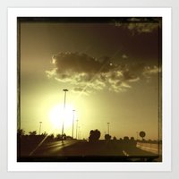 Sunset In Dubai Art Print