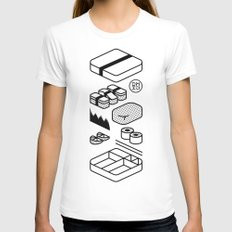 Bento Box Womens Fitted Tee White MEDIUM