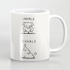 Inhale Exhale Elehant Mug