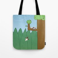 Birds And Trees Tote Bag