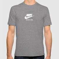 Nope – Just Do It. Later. Mens Fitted Tee Tri-Grey SMALL