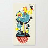 Blue Monster. Canvas Print