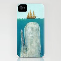 iPhone 4s & iPhone 4 Cases featuring The Whale  by Terry Fan