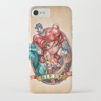 hair iPhone & iPod Cases featuring SIREN by Tim Shumate