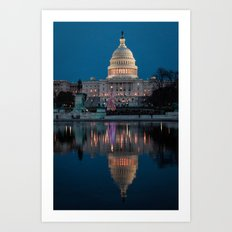 Capitol Reflection Art Print