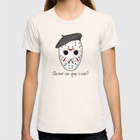 Psycho Killer Womens Fitted Tee Natural SMALL
